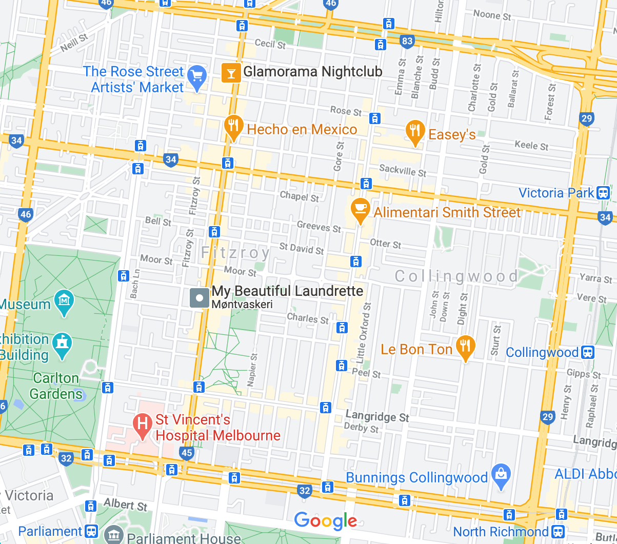 Map of Smith Street Melbourne